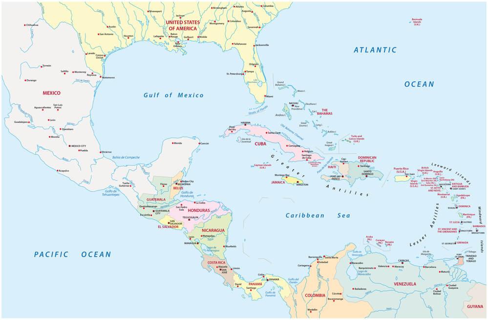 Karibik Karte.Faszination Karibik Wasser Und Land