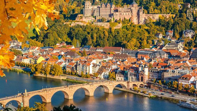 Heidelberg Deutschland im Sonnenschein