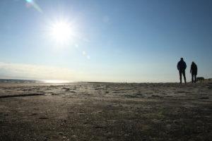 Strandspaziergang auf Borkum
