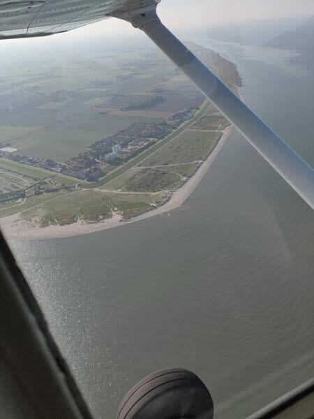 Schillig, Nordsee, Jadebusen, aus der Luft