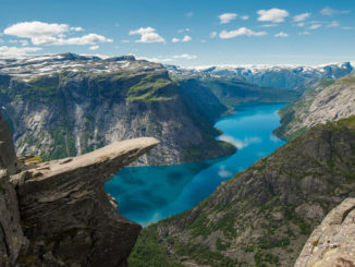 Der Trolltunga in Norwegen