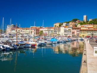 Hafen von Cannes in Frankreich