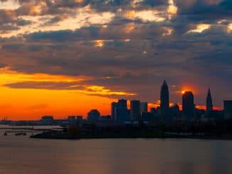 Cleveland im Sonnenaufgang