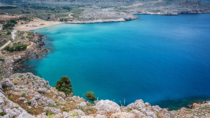 Bucht auf Rhodos