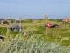 Kleine Ferienhäuser am Strand von Dänemark