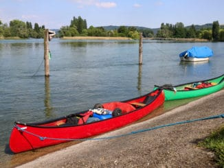 Kanus am Bodensee