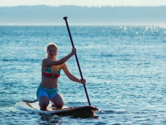 Stand-Up-Paddling am Bodensee