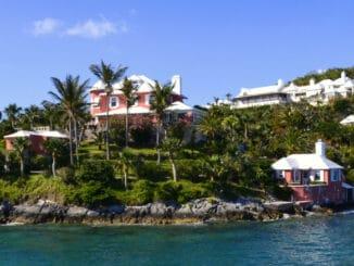Malerische Häuser auf den Bermudas